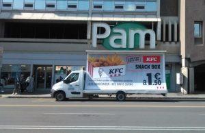 Camion Vela Kfc snack box - Pubbliarea